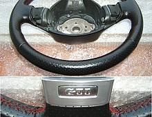Imagine Volan gti gt r32 piele neagra perforata cusatura rosie in 3 Piese Auto
