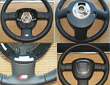 Imagine Volan piele neagra cusatura ata alba si emblema s3 impecabil Piese Auto