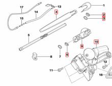 Imagine Motoras si pivot stergator luneta BMW 318d